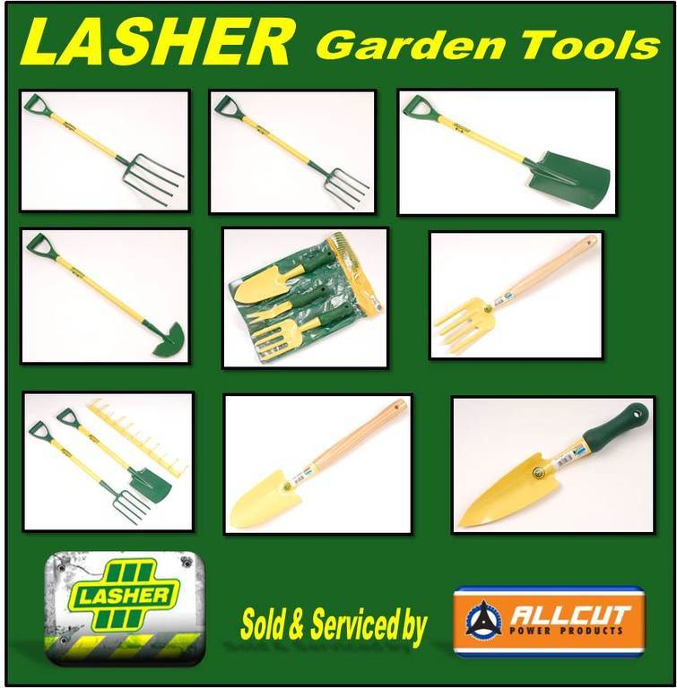 Lasher equiment power products tools port elizabeth for Industrial garden tools