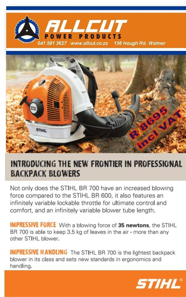 new br700 backpack blower